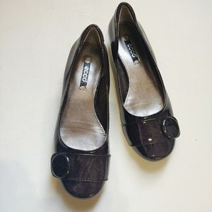 Ecco Patent Leather Ballet Flat